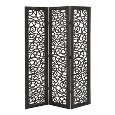 "72"" x 48"" Beautiful and Lovely 3 Panel Room Divider"