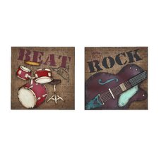 2 Piece Rock and Roll Wall Décor Set