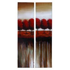 Nature 2 Piece Painting Print on Canvas Set