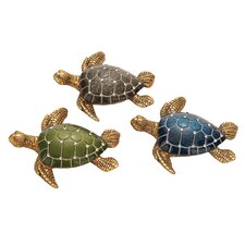 Polystone Table Top Turtle Assorted Figurines (Set of 3)