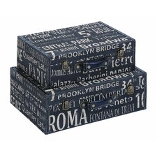 European Landmarks Travel Luggage (Set of 2)