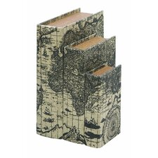 Ancient World Map 3 Piece Book Box Set