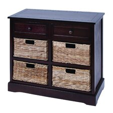 2 Drawer Chest with 4 Basket