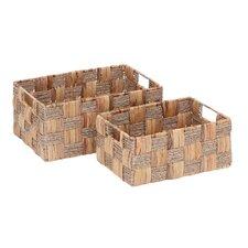 2 Piece Wicker Basket Set