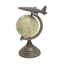 Round Base Globe with Aircraft on Top