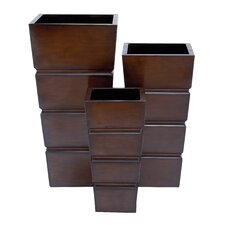 3 Piece Square Planter Box Set