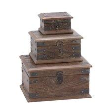 3 Piece Wooden Reclaimed Box Set
