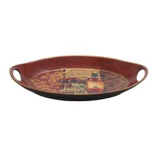 Ceramic Hawaiian Chi-Chui Decor Serving Tray
