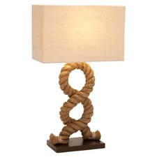 "Rope Pier 28"" H Table Lamp with Rectangular Shade"