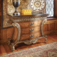 Connoisseur's 3 Drawer Chest with Fossil Stone Top