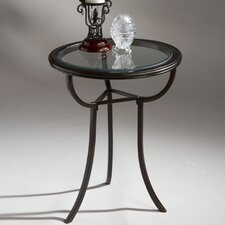 Metalworks Round End Table