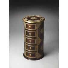 Artifacts Rajan Brass Inlay Pedestal Chest