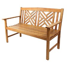 Fretwork Eucalyptus Wood Garden Bench