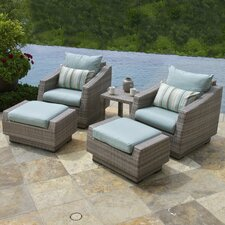 Cannes™  5 Piece Deep Seating Group with Cushion