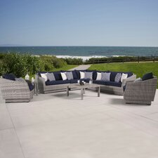 Cannes 9 Piece Deep Seating Group with Cushion