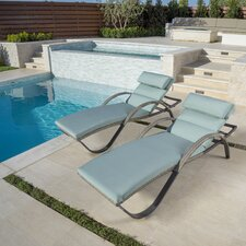 Cannes™ Chaise Lounges with Cushions (Set of 2)