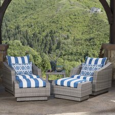 Cannes 5 Piece Deep Seating Group with Cushions