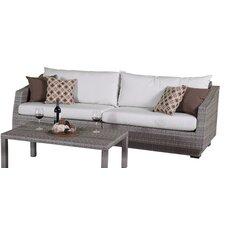 Cannes 2 Piece Sofa Set with Cushion