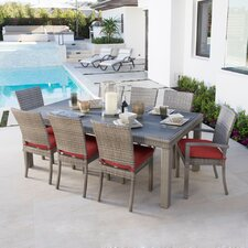 Cannes 9 Piece Dining Set with Cushions