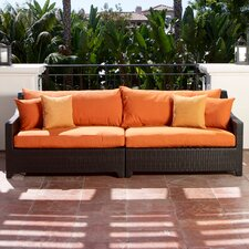 Deco Patio Sofa with Cushions