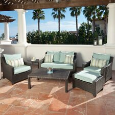 Deco 6 Piece Deep Seating Group with Cushions