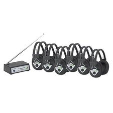 Multi Wireless Listening Center with 6 Headphones