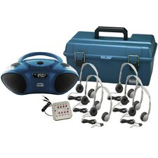 6 Person Bluetooth/CD/FM Listening Center with Personal Headphones