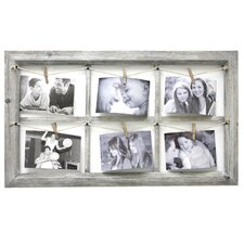 Elan Wooden Wall Collage With Rope Picture Frame