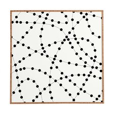 Dotted Line by Holli Zollinger Framed Graphic Art Plaque in Black