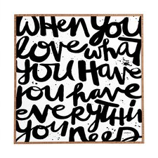 If You Love by Kal Barteski Framed Wall Art