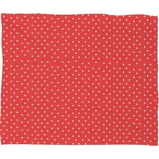 Allyson Johnson Dots Plush Fleece Throw Blanket