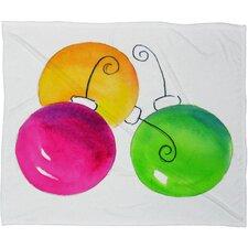 Laura Trevey Holiday Plush Fleece Throw Blanket