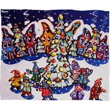 Renie Britenbucher Oh Christmas Tree Plush Fleece Throw Blanket