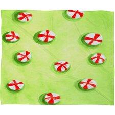 Rosie Brown Christmas Candy Plush Fleece Throw Blanket