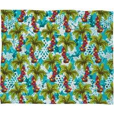 Aimee St Hill Tropical Christmas Plush Fleece Throw Blanket