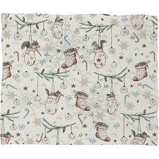 Belle 13 Squirrel Heavenly Christmas Plush Fleece Throw Blanket
