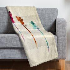 Iveta Abolina Feathered Arrows Throw Blanket