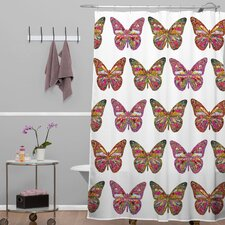 Bianca Green Butterflies Fly Shower Curtain