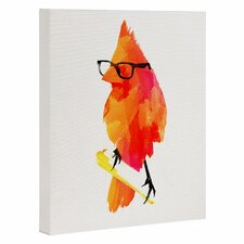 """Punk Bird"" by Robert Farkas Graphic Art on Wrapped Canvas"