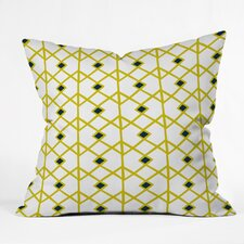 Heather Dutton Annika Diamond Citron Indoor/outdoor  Throw Pillow