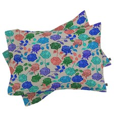 Bianca Green Roses Pillowcase