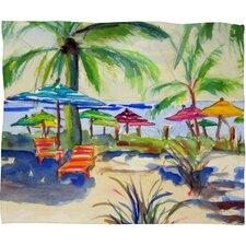 Caribbean Time Fleece by Laura Trevey Throw Blanket