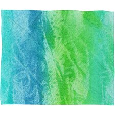 Caribbean Sea Fleece by Laura Trevey Polyester Throw Blanket