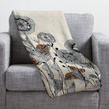 Iveta Abolina Floral 3 Throw Blanket