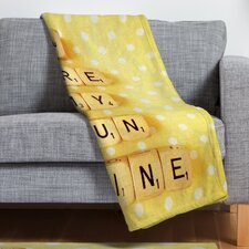 Happee Monkee You Are My Sunshine Throw Blanket