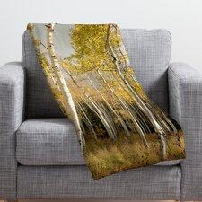 Bird Wanna Whistle Golden Aspen Throw Blanket