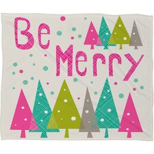 Heather Dutton Be Merry Fleece Polyester Throw Blanket
