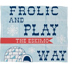 Heather Dutton Frolic and Play Fleece Polyester Throw Blanket