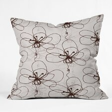 Rachael Taylor Tonal Floral Polyester Throw Pillow