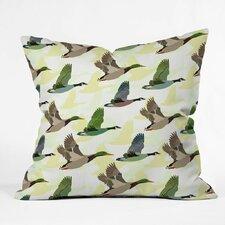 Sabine Reinhart Flying Ducks Polyester Throw Pillow